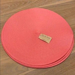 NWT Sur La Table Round Woven Placemats Set of 4